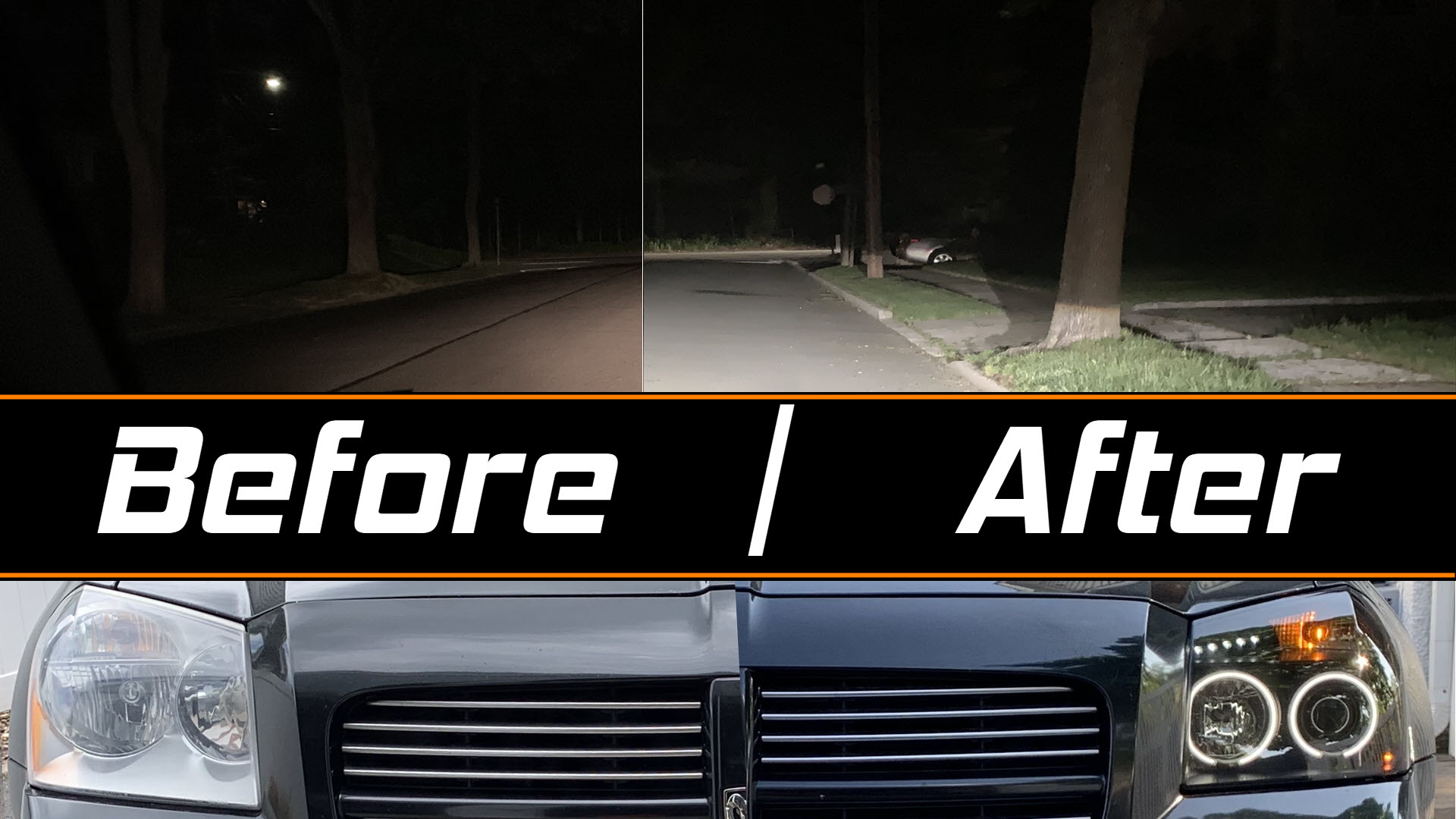Auxbeam W-Series LED bulbs with Spyder Tinted Headlights for